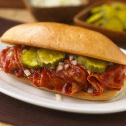 Sándwiches de Jamón con Salsa