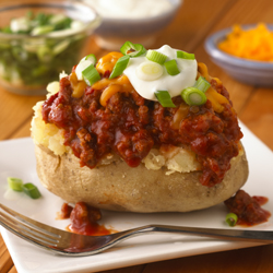 Papas Horneadas Rellenas con Salsa Sloppy Joe