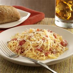 Calabaza Espagueti Cremosa con Tomates