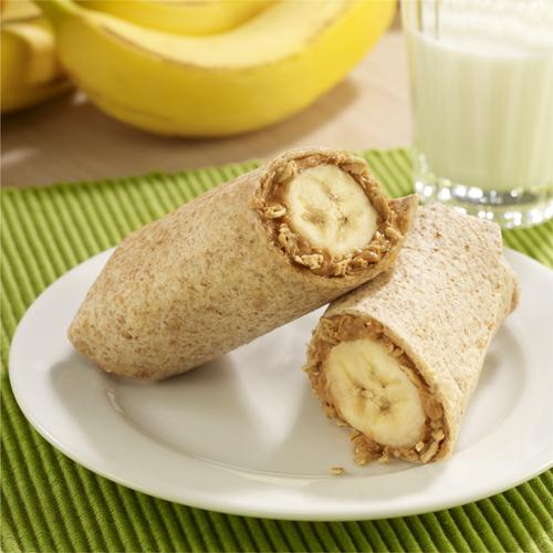 Rollitos de Mantequilla de Cacahuate y Banana
