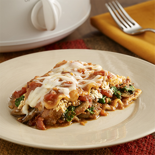 Slow Cooker Vegetable Lasagna