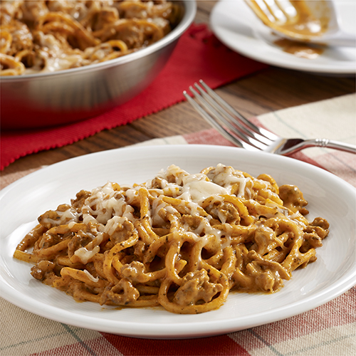 Creamy Spaghetti Skillet