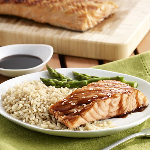 Grilled Salmon with Soy Glaze