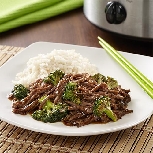 Carne y Brócoli en Olla de Cocción Lenta