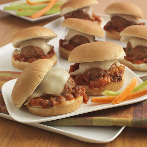 Baked Parmesan Meatball Sliders Recipe