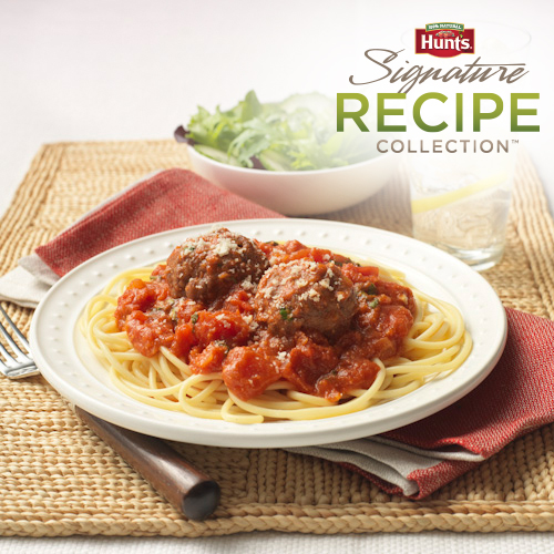 Hunt's® Classic Spaghetti and Parmesan Meatballs