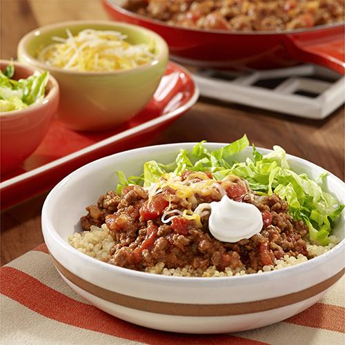 Tazón de Quinoa con Carne al Estilo Taco