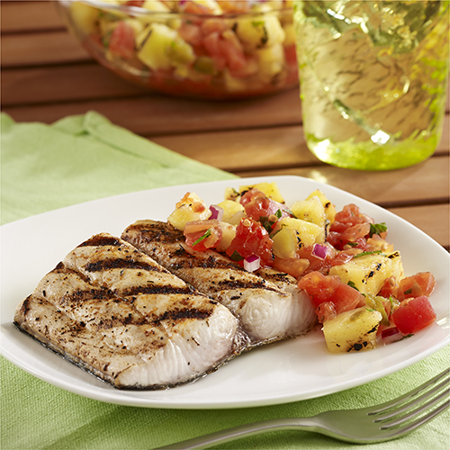 Grilled Mahi Mahi Fillets with Pineapple Salsa Recipe