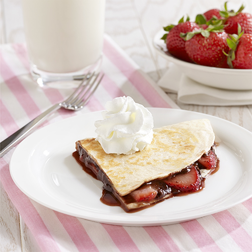 Strawberry and Chocolate Dessert Quesadilla