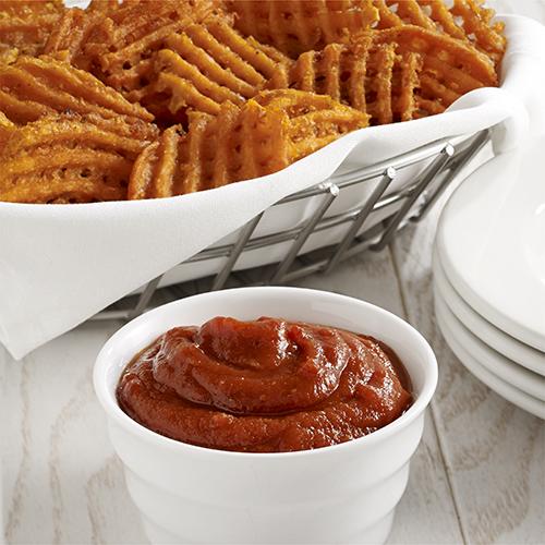 Camotes fritos al Horno con Ketchup y Curry