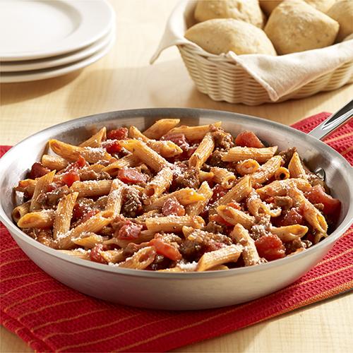 Pasta con Salchicha Italiana a la Sartén