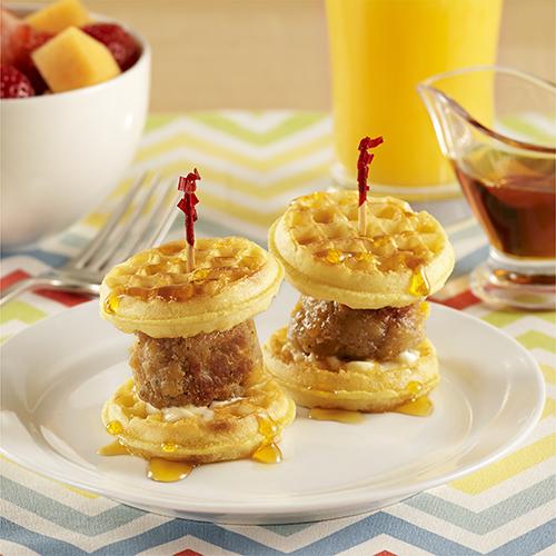 Mini Waffle Breakfast Sliders