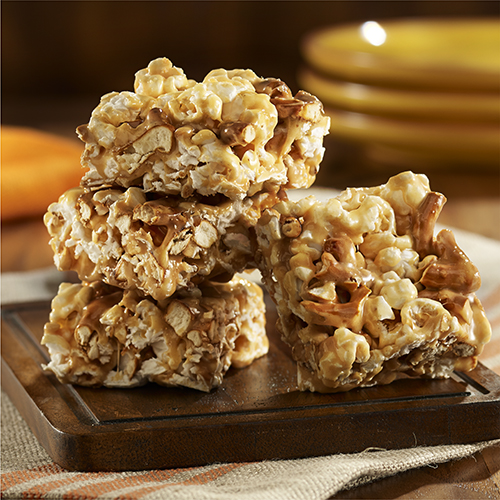 Popcorn Bar Recipes Salted Caramel Popcorn Bars