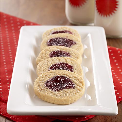 PB&J Shortbread Cookies