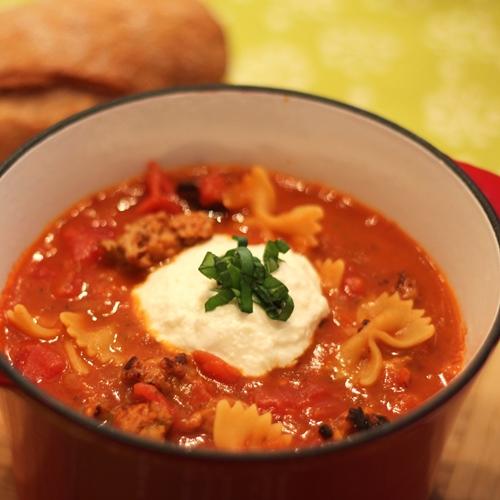 Spicy Lasagna Soup
