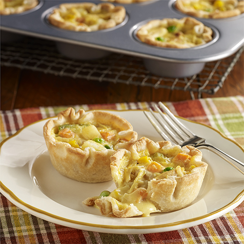Mini 'Pot Pies' de Pollo Fáciles