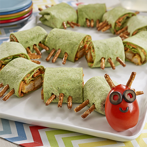 Caterpillar Chicken Tortilla Wraps