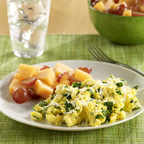 Scrambled Eggs with Kale
