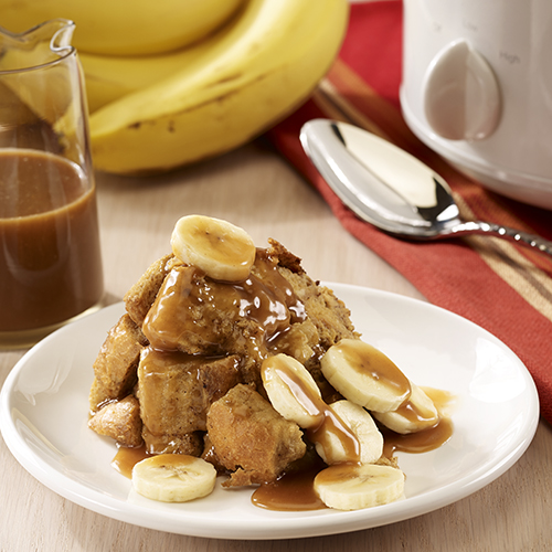 Slow Cooker Banana French Toast Casserole