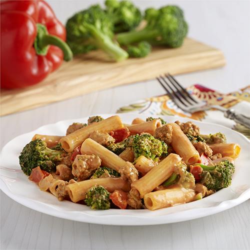 Creamy Sausage and Broccoli Rigatoni