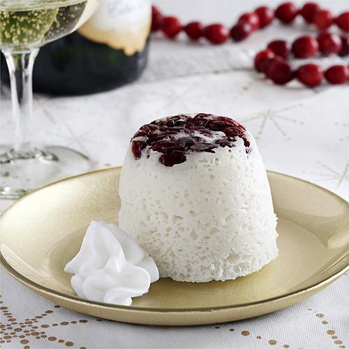 Cranberry Champagne Mug Cakes