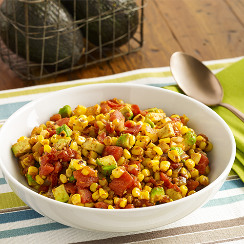 Chipotle Pan Roasted Corn with Tomatoes