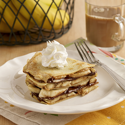 Gluten Free Peanut Butter and Banana Crepe Stack