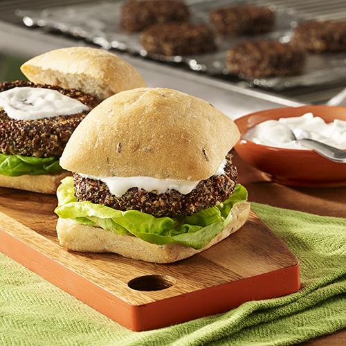 Grilled Quinoa Mushroom Burgers