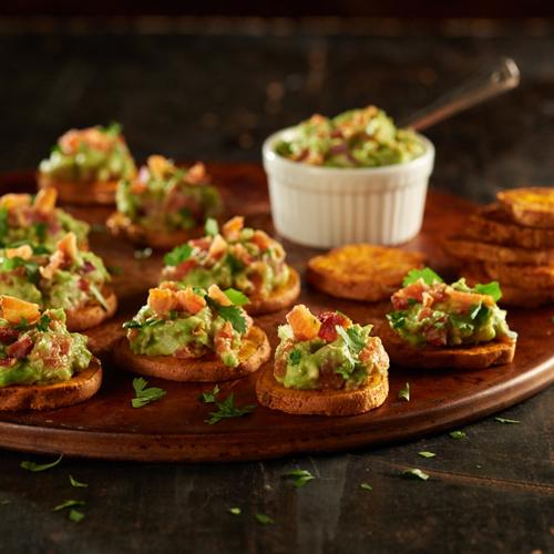 Rockin' Guacamole Sweet Potato Bites - Recipe | ReadySetEat