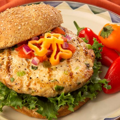 Grilled Jalapeno Turkey Burgers